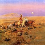 Horse Thieves Indians Charles Marion Russell Indiana Painting Oil