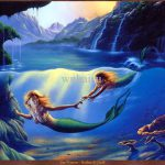 Hot Selling Print Oil Painting Canvas Jim Warren Mother