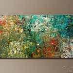 Huge Large Abstract Art Painting Discovery Modern Colorful Paintings Sale