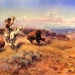 Hunting Oil Painting Horse Hunter Fresh Meat Russell