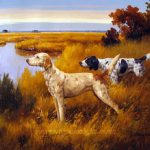 Hunting Scene Oil Painting Dog Paintings