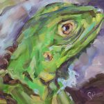 Iguana Painting Reptile Green Lizard Sale