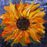 Impasto Sunflowers Oil Paintings Photography