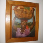Important Haitian Listed Artist Louverture Poisson Oil Painting Woman Portrait