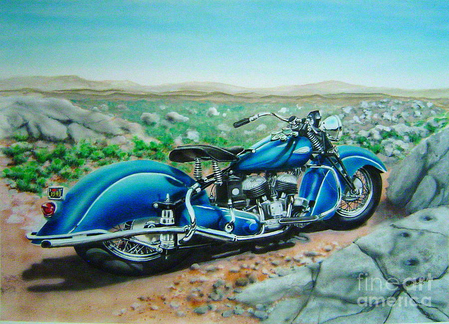 Indian Motorcycle Painting Steve