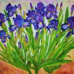 Irises Painting Janet