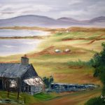 Irish Cottage Painting Larry
