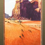 Irving Toddy Original Oil Canvas Board Painting Navajo