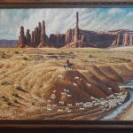 Irving Toddy Original Oil Canvas Painting Navajo