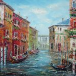 Italian Love Story Venice Oil Painting Italy Impressionism Inches