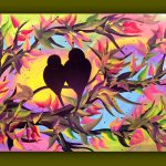 Items Similar Bird Painting Canvas Love Art