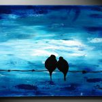 Items Similar Blue Art Painting Original Wedding Gift Abstract