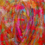 Items Similar Colorful Abstract Painting Original Acrylic Small Pink Gold
