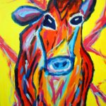 Items Similar Cool Cow Acrylic Painting
