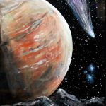 Items Similar Framed Alien Planet Original Painting Canvas Sheet Cosmic
