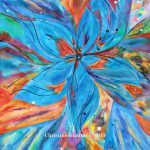 Items Similar Original Abstract Art Flower Blue Flowers Painting