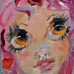 Items Similar Pink Valentine Fairy Oil Painting Aceo Original Artist Trading Card