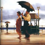 Jack Vettriano Shape Things Come Painting Print