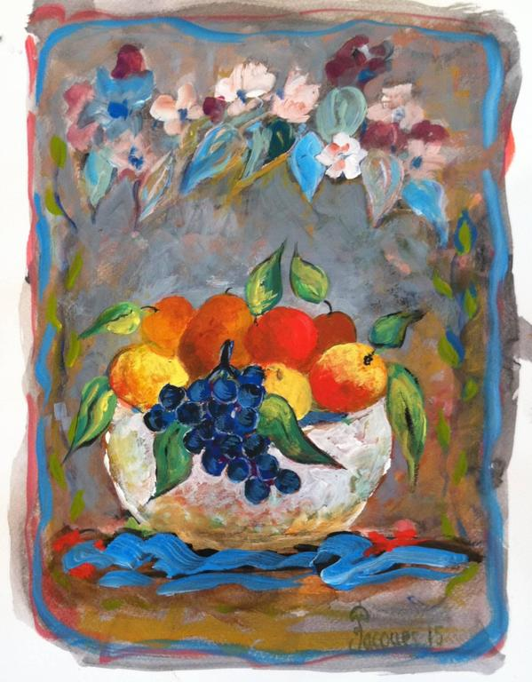 Jacques Pepin Untitled Bowl Fruit Painting Sale
