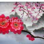 Japanese Cherry Blossoms Paintings Sale Hand Painted Fine Quality Canvas Flower