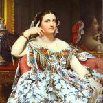 Jean Auguste Dominique Ingres Mme Moitessier Painting Anysize