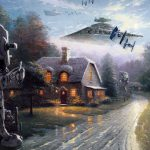 Jeff Bennett Creates Star Wars Paradise Thomas Kinkade Paintings