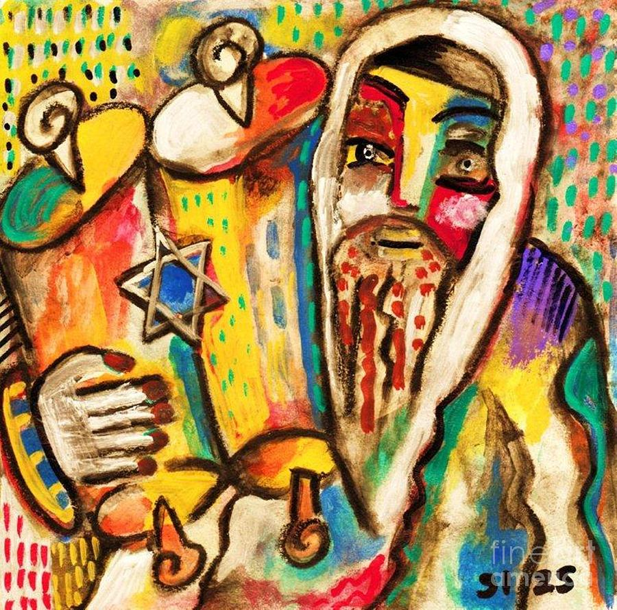 Jewish Celebrations Rejoicing Torah Painting Sandra