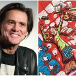 Jim Carrey Shares Painting American Flag Soaked Schoolgirl