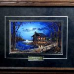 Jim Hansel End Road Cabin Lake Art Print Framed