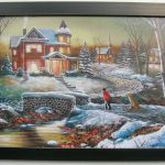Jim Hansel Snow Prints Large Framed Country Interior Home Decor Art