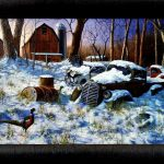 Jim Hansel Winter Haven Pheasant Studio Canvas Framed Print