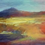 Joan Fullerton Paintings Abstract Landscape Painting Blue Horizon Intuitive