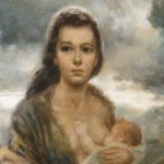 Joe King Aka Vinciata Original Oil Painting Young Mother Atlantiques Ruby