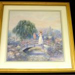Joe Sambataro African American Woman Bridge Parasol Framed Art Print