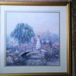 Joe Sambataro Fine Art Print Titled Women Bridge Floral Gardens