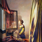Johannes Vermeer Reading Letter Open Window Hand Painted Oil Painting