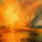 Joseph Mallord William Turner Burning Houses Parliament Detail Painting