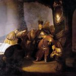 Judas Returning Thirty Silver Pieces Rembrandt Wikimedia