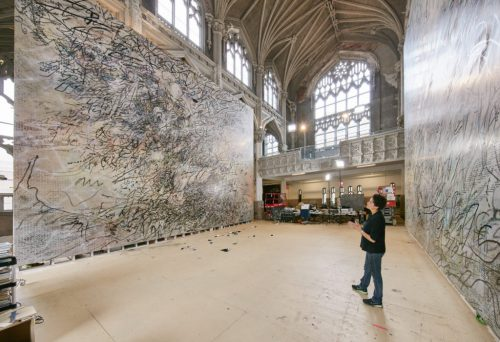 Julie Mehretu Created Two Contemporary Art Largest Paintings Sfmoma Artnet
