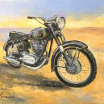 Junak Polish Motorcycle Painting Luke