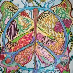 Just Give Peace Butterfly Named Singleton Hippie