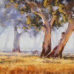 Kangaroo Grazing Painting Graham
