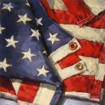 Karen Werner Fine Art Stars Stripes American Flag Oil