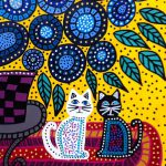 Kerri Ambrosino Mexican Folk Art Print Best Friends