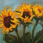 Kim Blair Sunflower Painting Autumn Yellow Canadian
