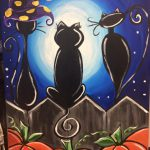 Kitty Halloween Paint Night
