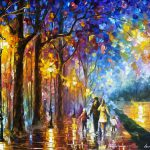 Lake Palette Knife Oil Painting Canvas Leonid