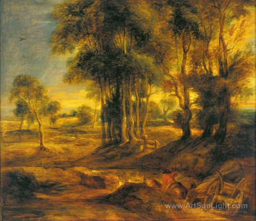 Landscape Carriage Sunset Peter Paul Rubens Oil Painting