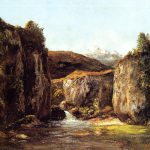 Landscape Source Among Rocks Doubs Realist Realism Painter Gustave