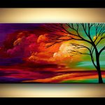Landscape Tree Painting Original Abstract Contemporary